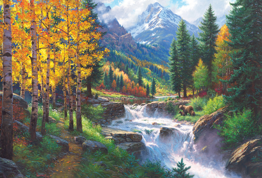 Rocky Mountain High  2000 pc puzzle Cobble Hill Puzzle Co collage jigsaw