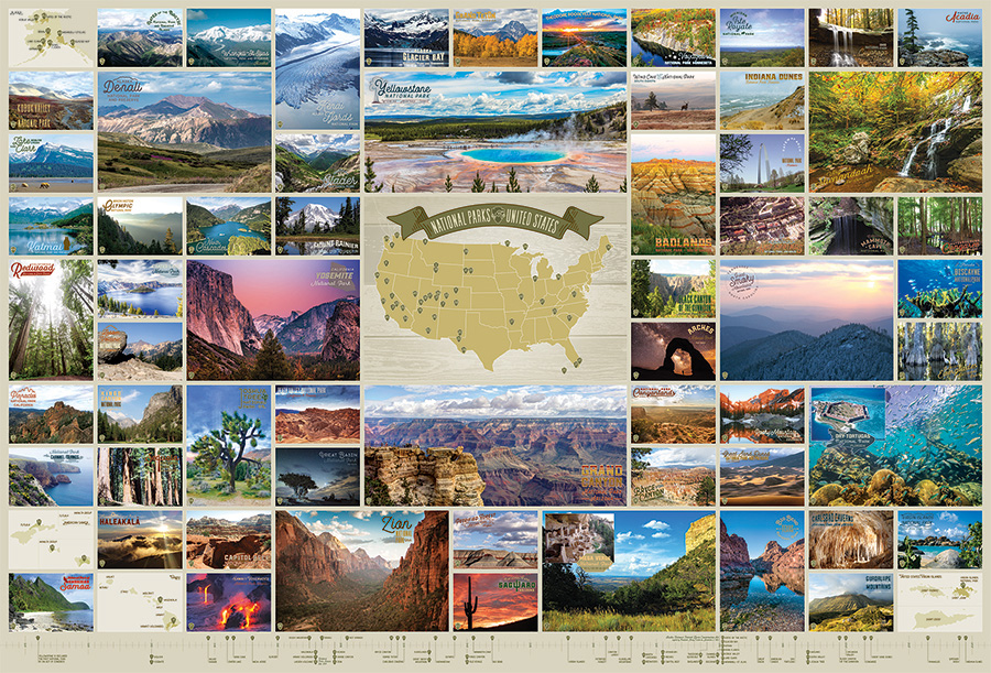 National Parks of the United States 2000 pc puzzle Cobble Hill Puzzle Co jigsaw