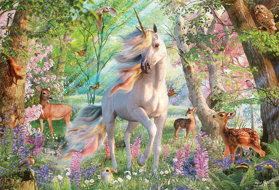 Unicorn and Friends 2000 pc puzzle Cobble Hill Puzzle Co jigsaw