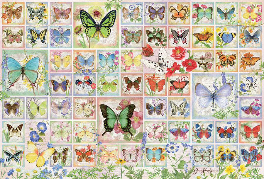 Butterflies and Blossoms 2000 pc puzzle Cobble Hill Puzzle Co jigsaw