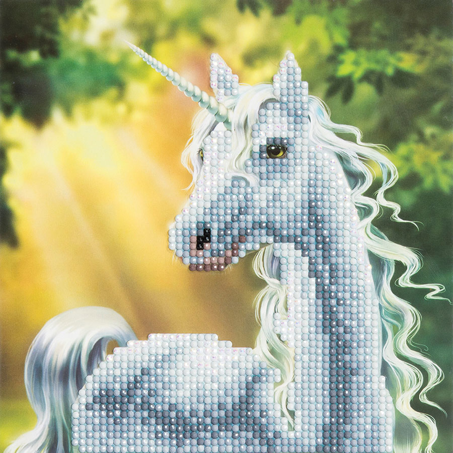 Crystal Art Card Sunshine Unicorn distributed by Outset Media