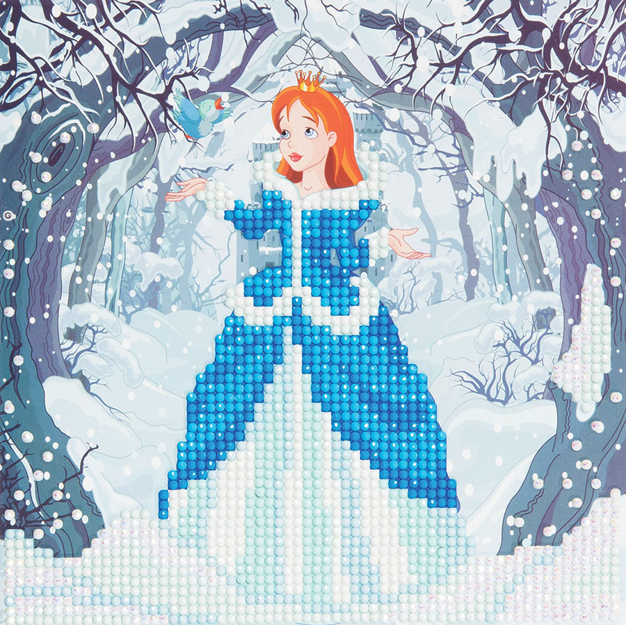 Crystal Art Card Kit Enchanted Princess distributed by Outset Media