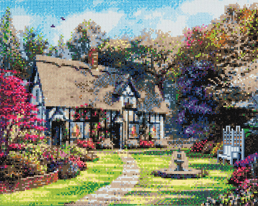 Crystal Art Large Framed Kit Country Cottage distributed by Outset Media