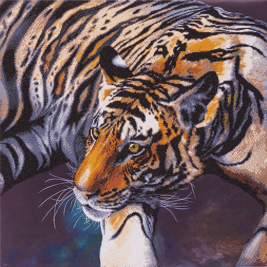 Crystal Art Extra Large Framed Kit The Tiger distributed by Outset Media