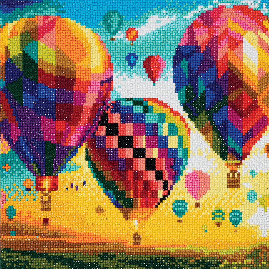Crystal Art Medium Framed Kit Hot Air Balloons distributed by Outset Media