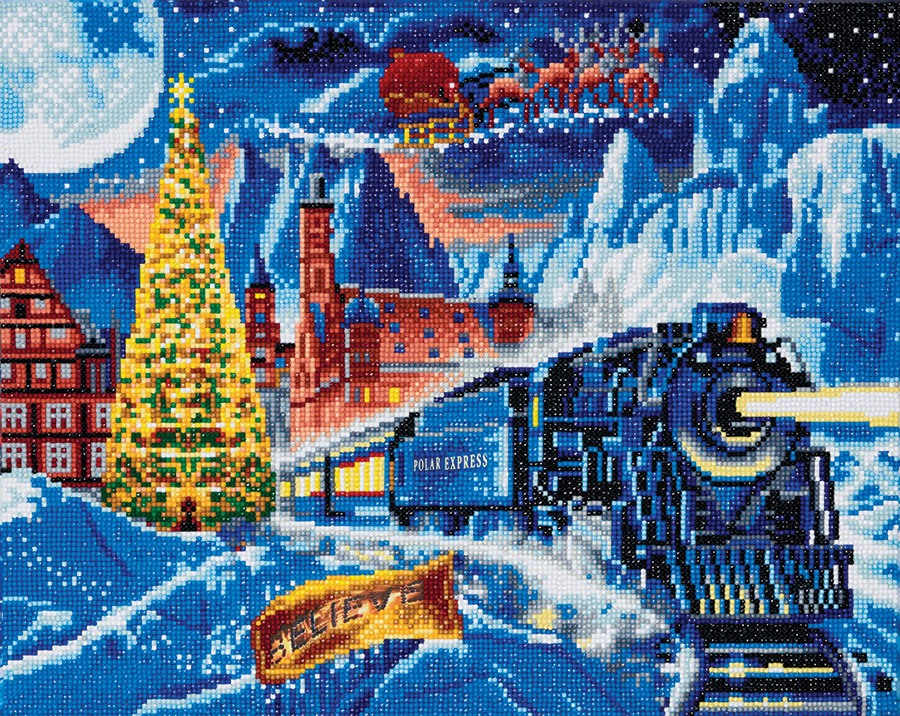 Crystal Art Large Framed Kit Polar Express distributed by Outset Media