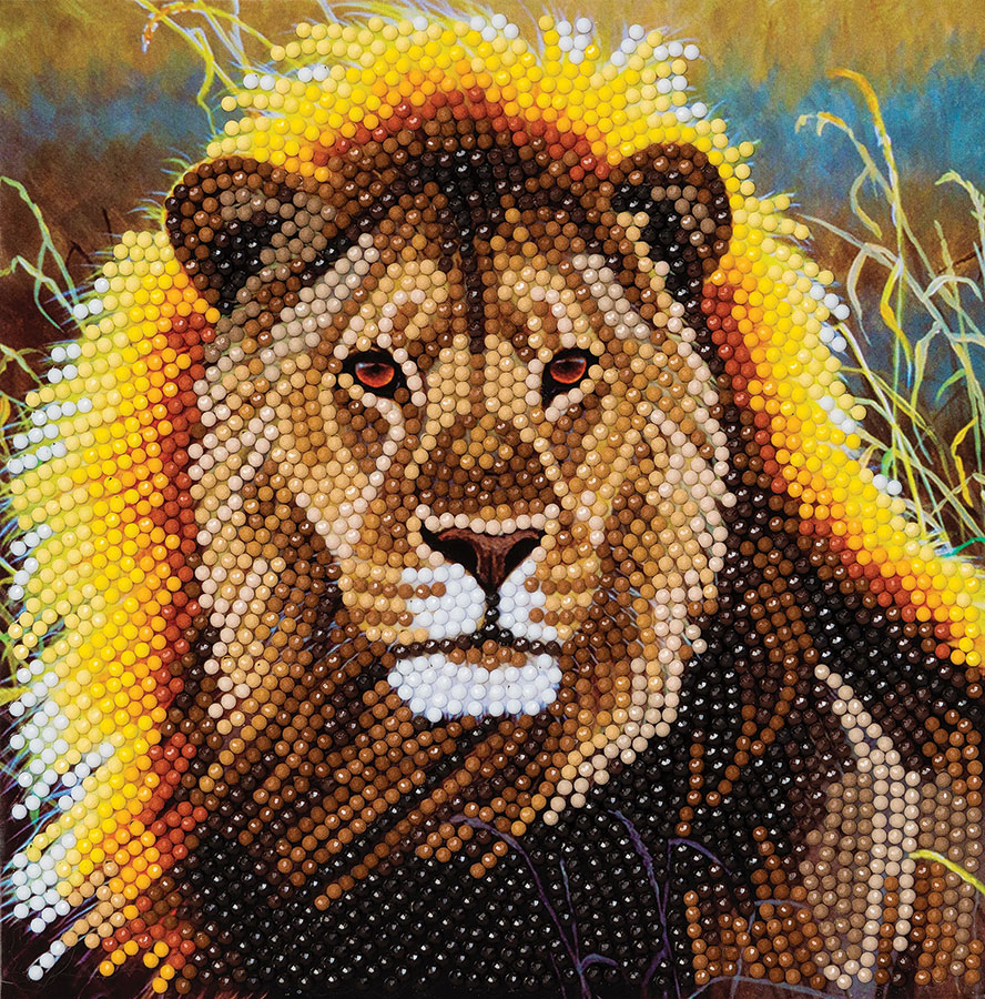 Crystal Art Card Kit Resting Lion distributed by Outset Media