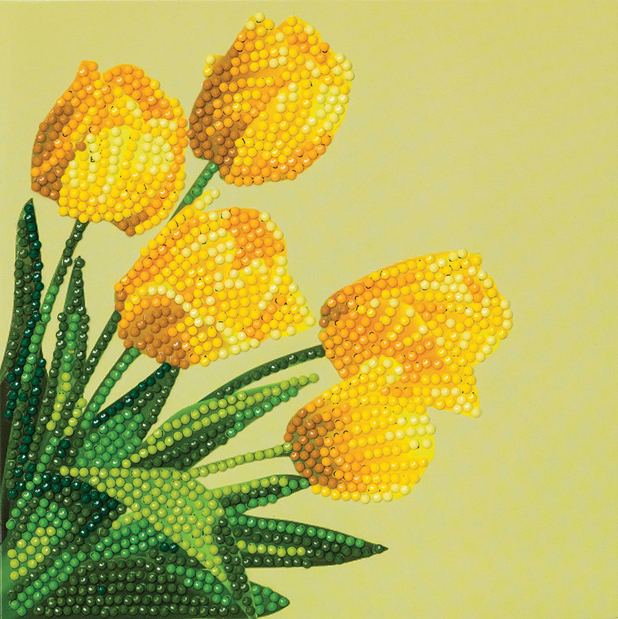 Crystal Art Card Kit Spring Tulips distributed by Outset Media