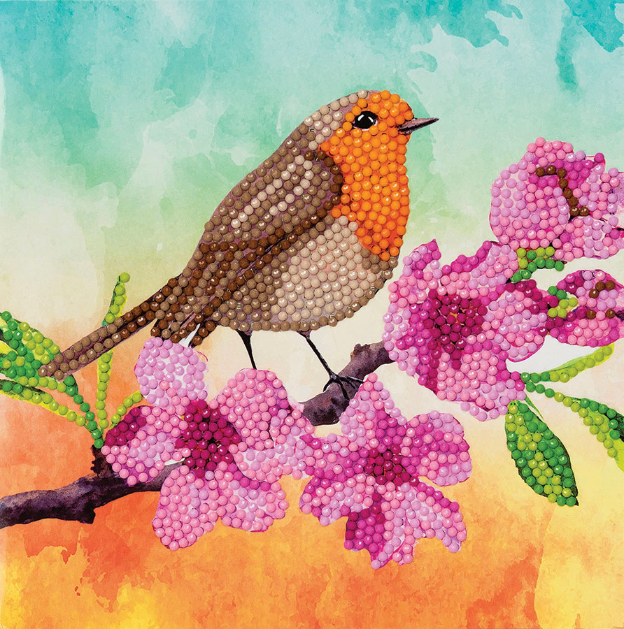 Crystal Art Card Kit Robin distributed by Outset Media