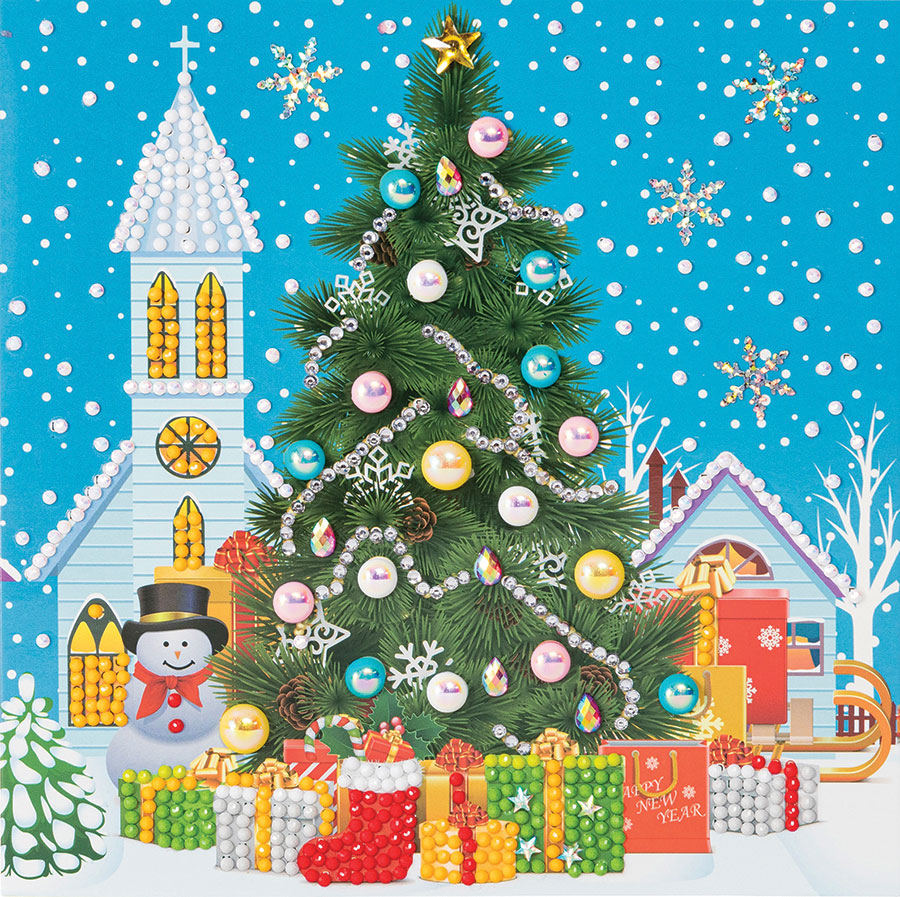Crystal Art Card Kit Christmas Tree (2019) distributed by Outset Media