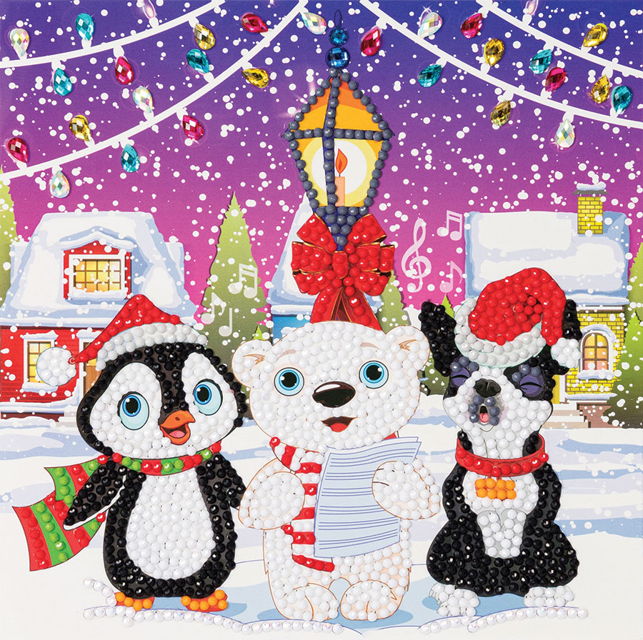 Crystal Art Card Kit Carol Singers distributed by Outset Media