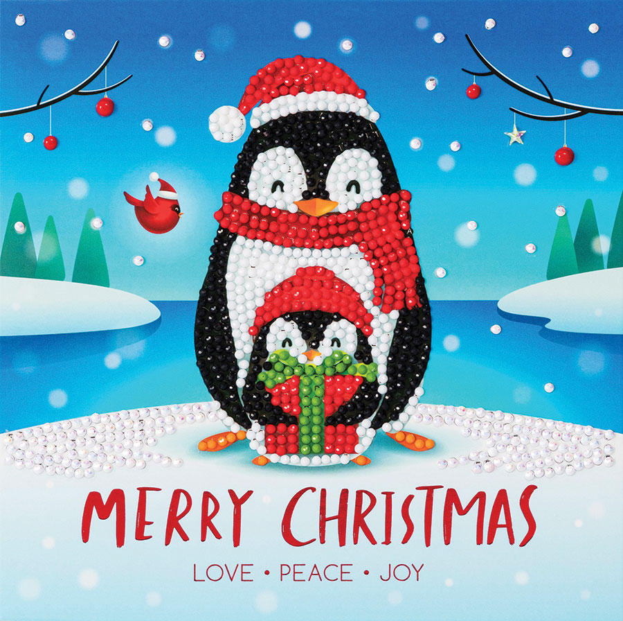 Crystal Art Card Kit Penguin Gift distributed by Outset Media