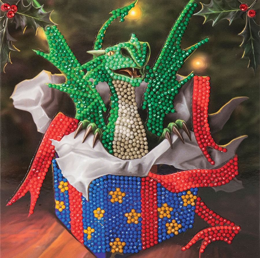 Crystal Art Card Kit Dragon Gift distributed by Outset Media