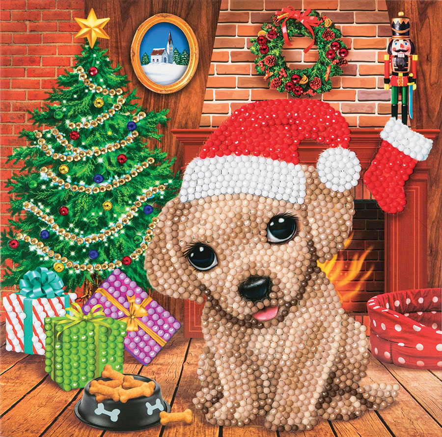 Crystal Art Card Kit Cozy Pup distributed by Outset Media