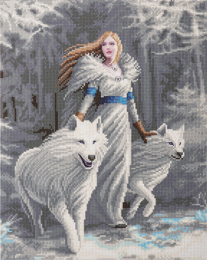 Crystal Art Large Framed Kit Winter Guardians distributed by Outset Media