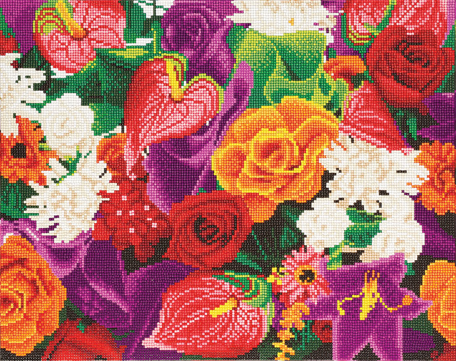 Crystal Art Large Framed Kit Flowers distributed by Outset Media