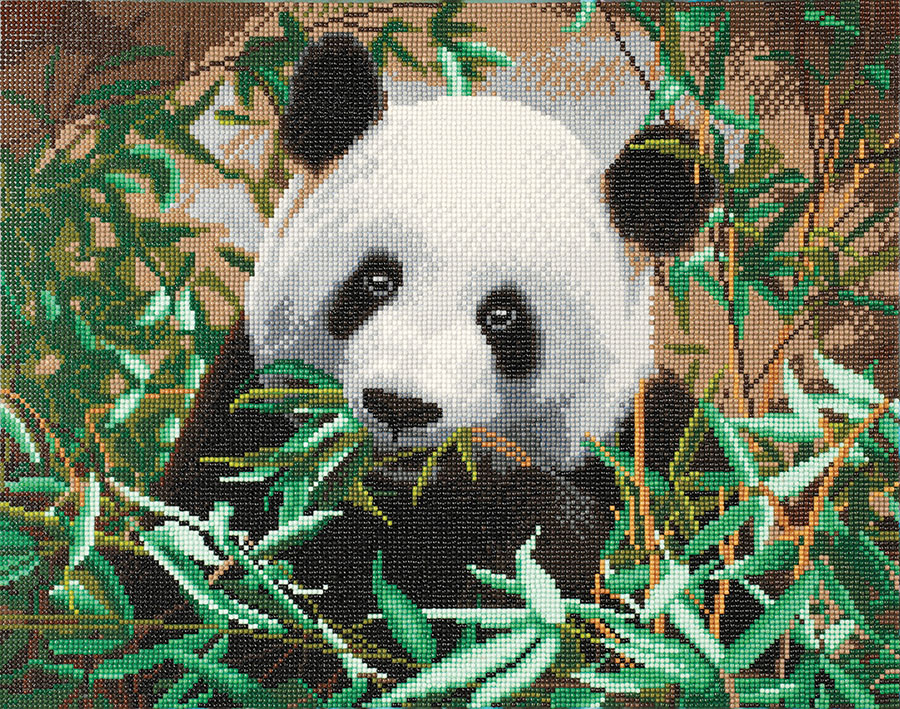 Crystal Art Large Framed Kit Hungry Panda distributed by Outset Media