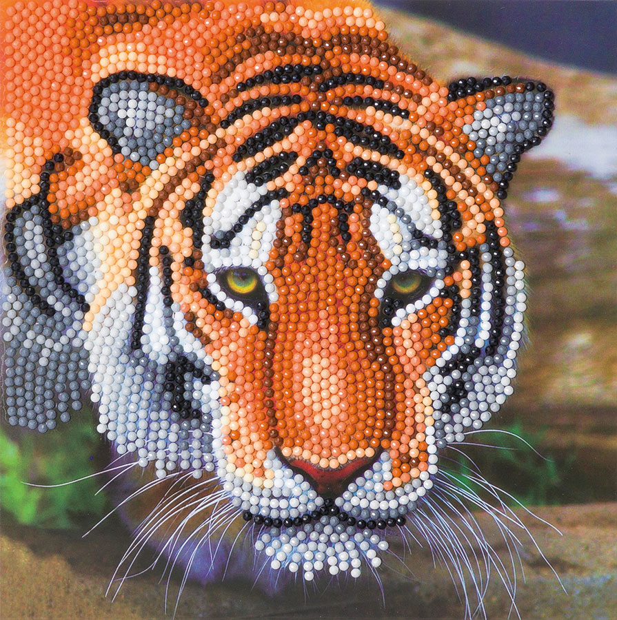 Crystal Art Card Kit Tiger distributed by Outset Media