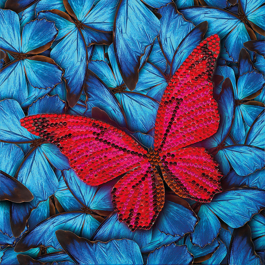 Crystal Art Card Kit Butterfly distributed by Outset Media