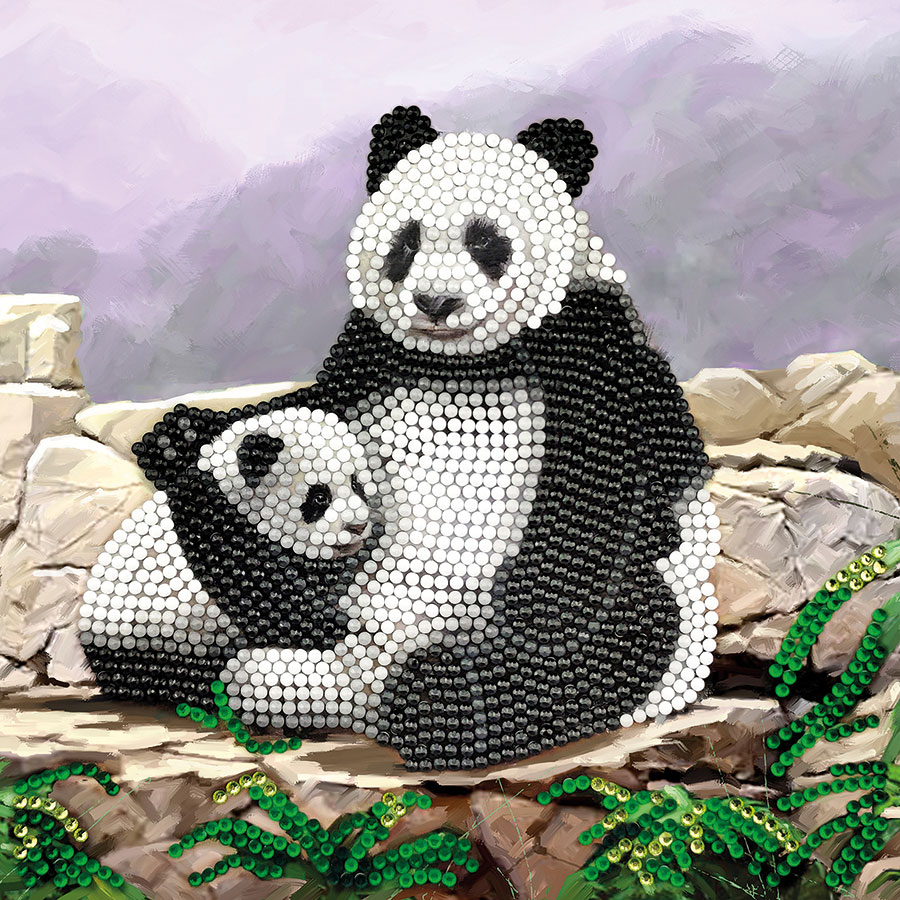 Crystal Art Card Kit Panda distributed by Outset Media