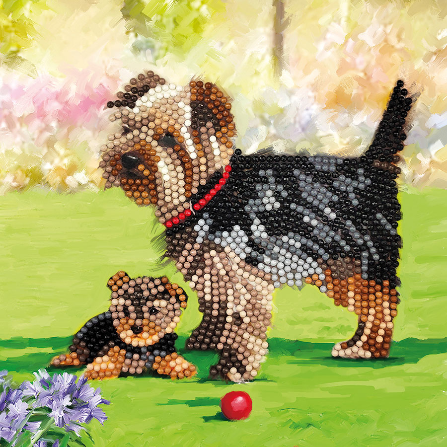 Crystal Art Card Kit Dogs distributed by Outset Media