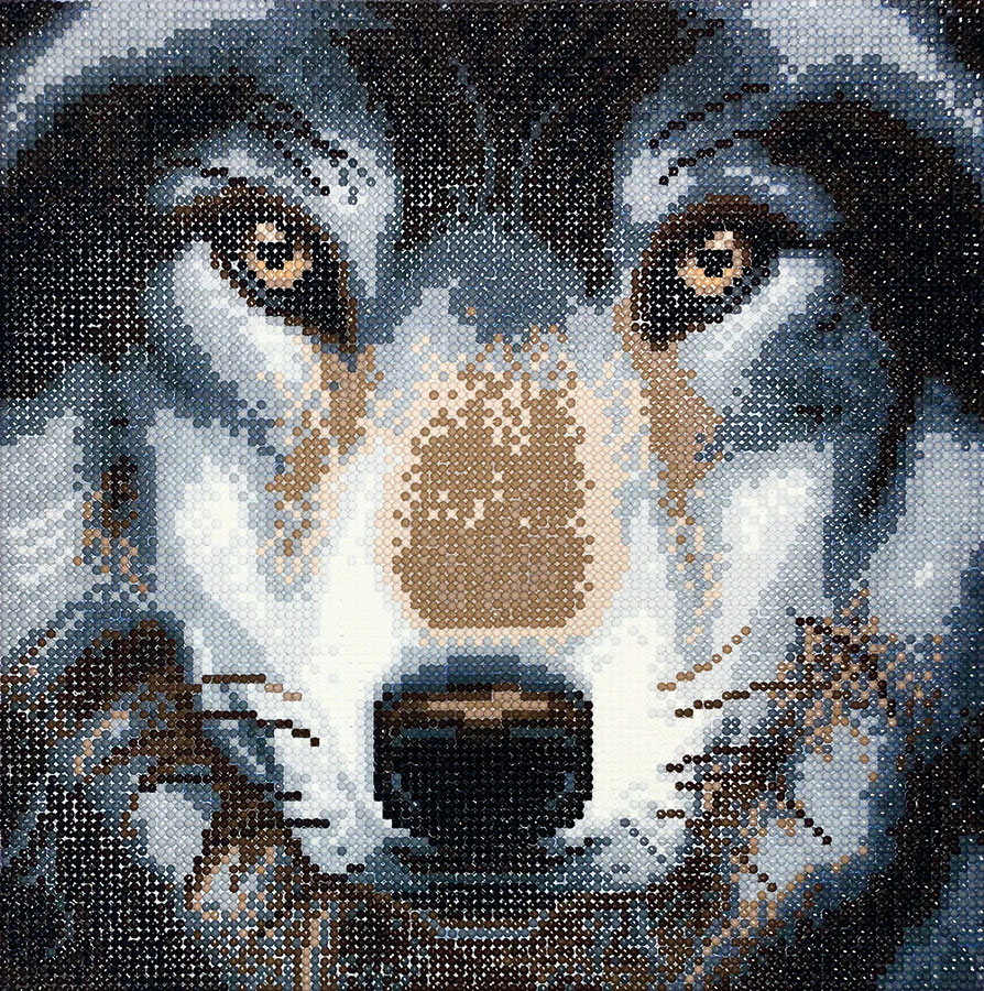 Crystal Art Medium Framed Kit Wolf distributed by Outset Media