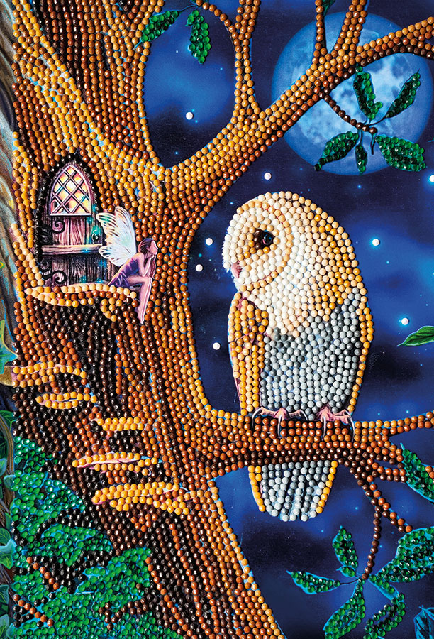 Crystal Art Notebook Kit Owl and Fairy Tree distributed by Outset Media