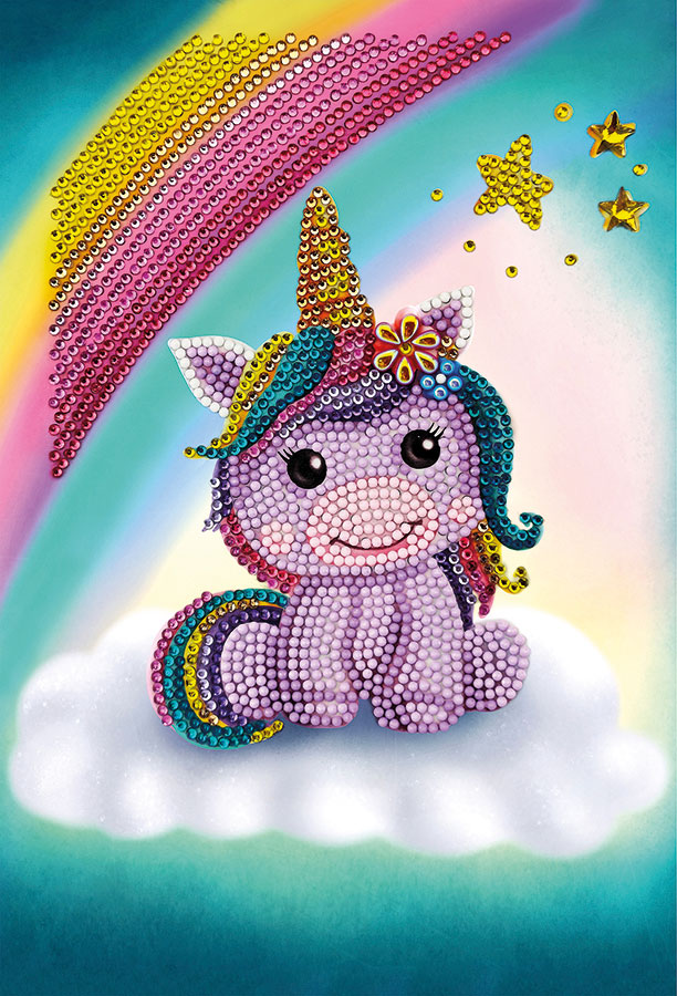 Crystal Art Notebook Kit Unicorn Smile distributed by Outset Media