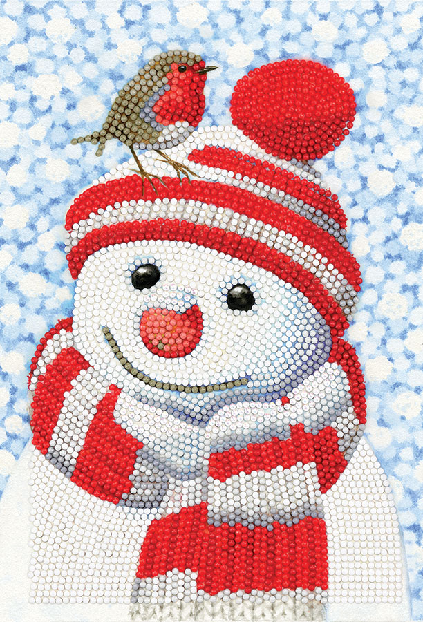 Crystal Art Notebook Kit Friendly Snowman distributed by Outset Media