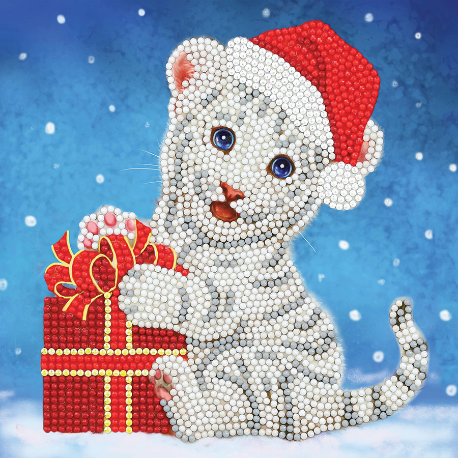 Crystal Art Card Kit Christmas Cat distributed by Outset Media