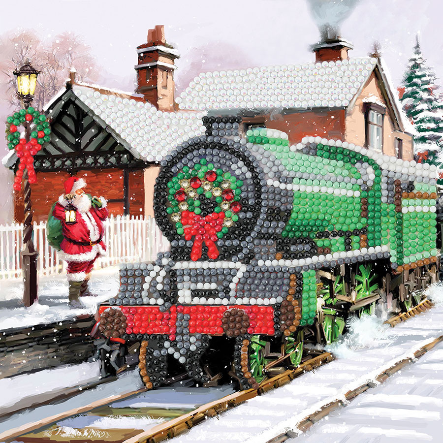 Crystal Art Card Kit Santa Express distributed by Outset Media