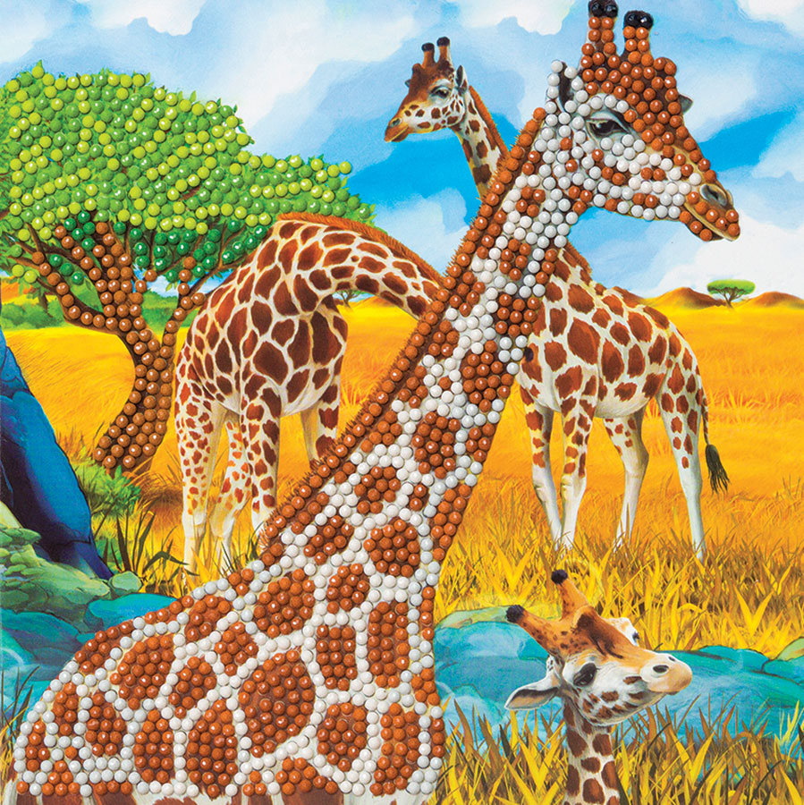 Crystal Art Card Kit - Gentle Giraffe distributed by Outset Media