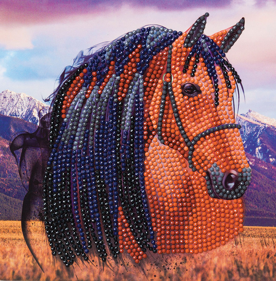 Crystal Art Card Kit - Horse distributed by Outset Media