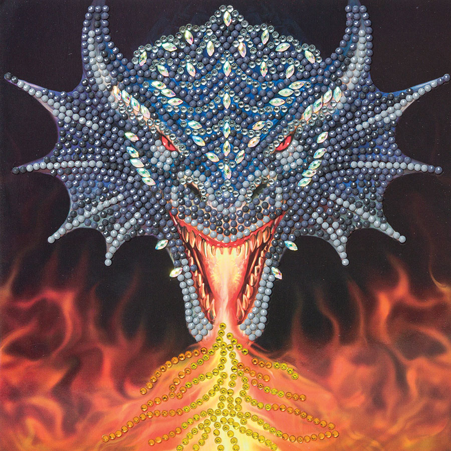 Crystal Art Card Kit - Dragon Fire Head distributed by Outset Media