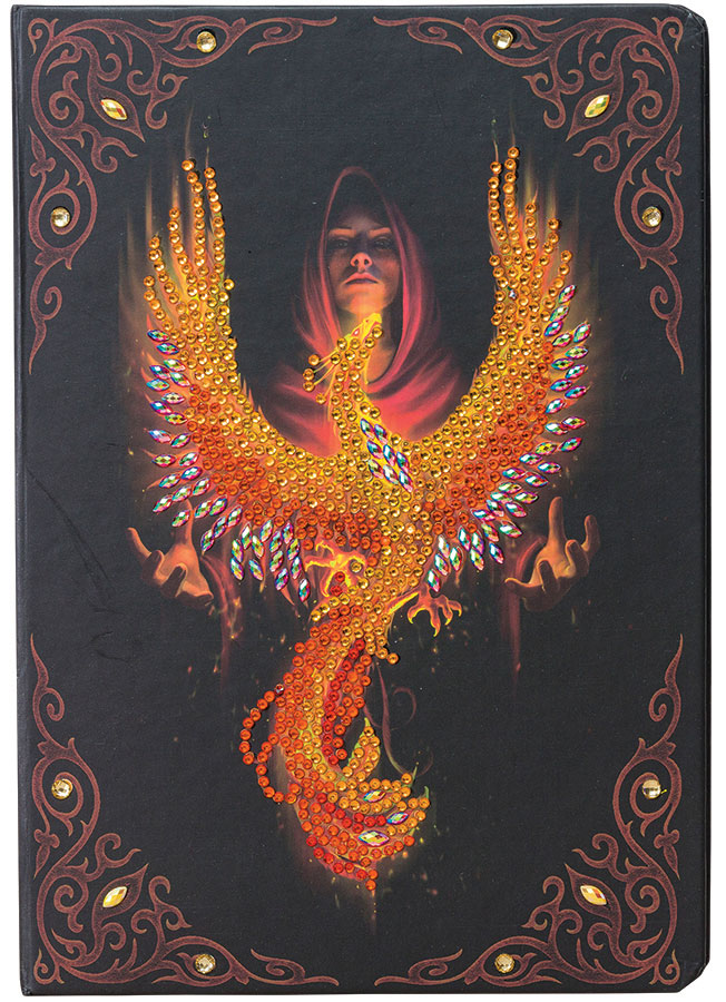 Crystal Art Notebook Kit Phoenix Rising distributed by Outset Media