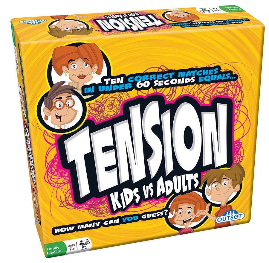 Tension Kids vs. Adults word and party game by Outset Media