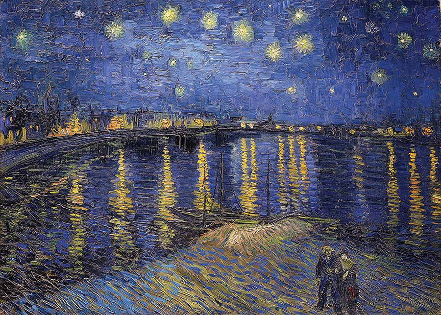 Starry Night Over the Rhone 1000 piece D-Toys puzzle