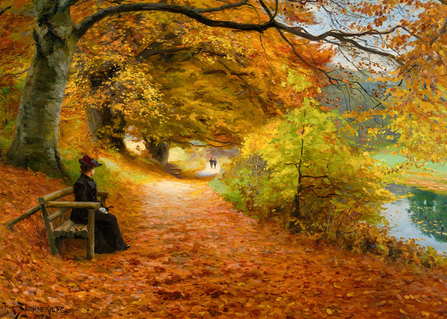 A Wooded Path in Autumn (Brendekilde) D-Toys distributed by Outset Media