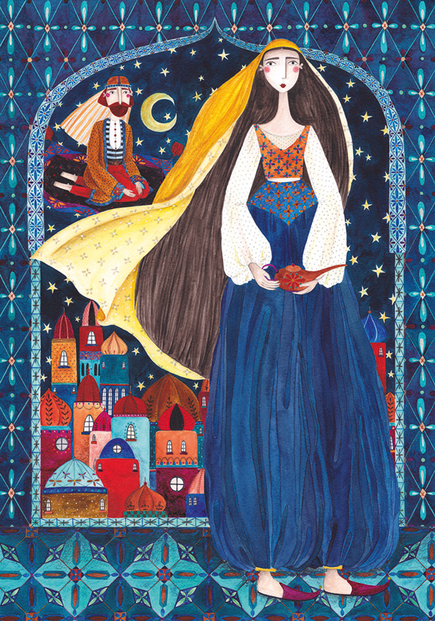 Arabian Nights Kurti Andrea D-Toys 1000 piece puzzle from Outset Media