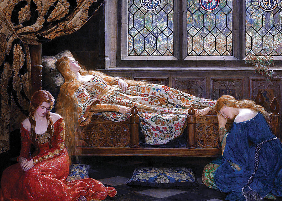 The Sleeping Beauty (Collier) DToys 1000 piece