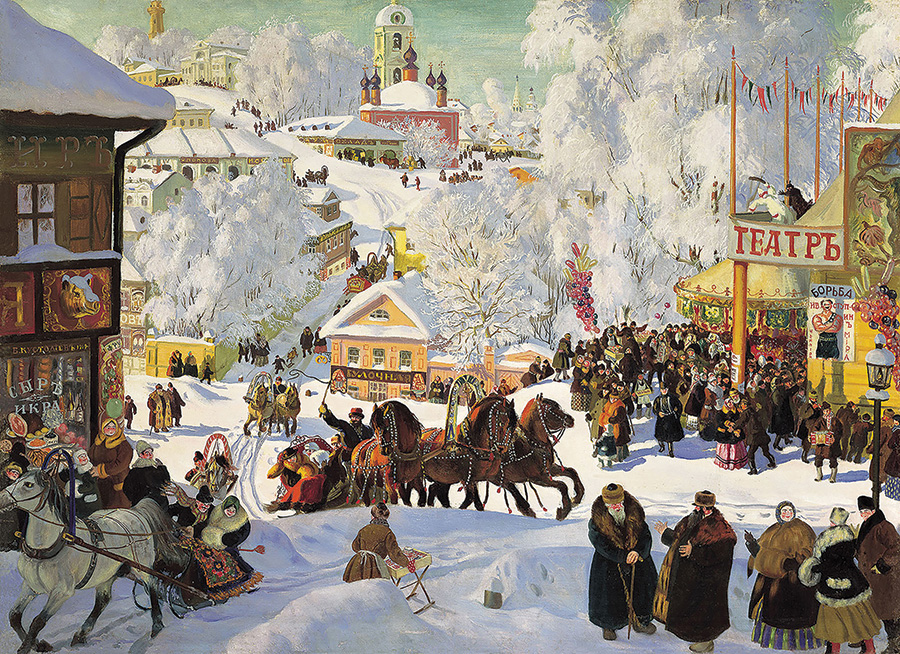 Maslenitsa (Kustodiev) by DToys 1000 piece
