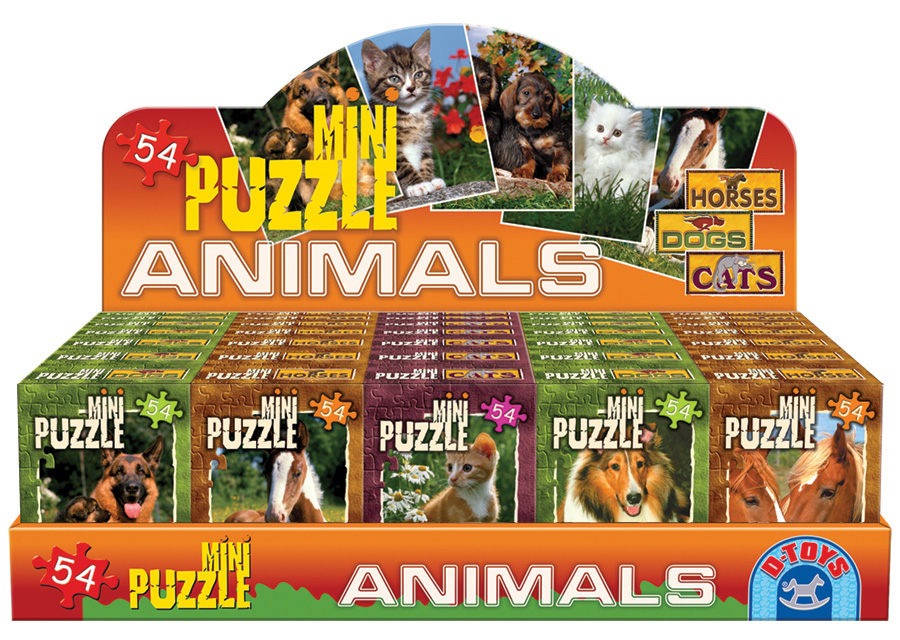 Animals mini puzzles assortment from D-Toys