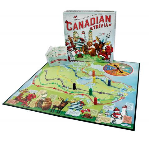 Canadian Trivia 150th Limited Edition board game layout