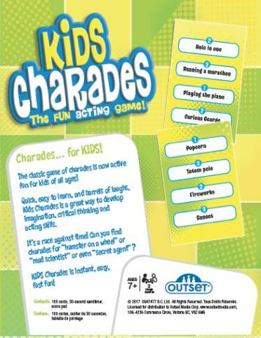Kids Charades Box Bottom by Outset