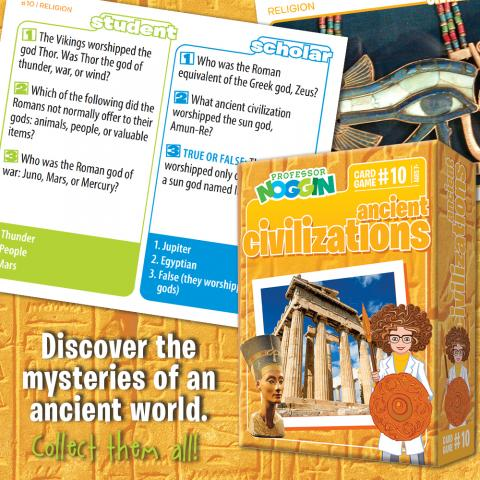 Professor Noggin Ancient Civilizations sample card