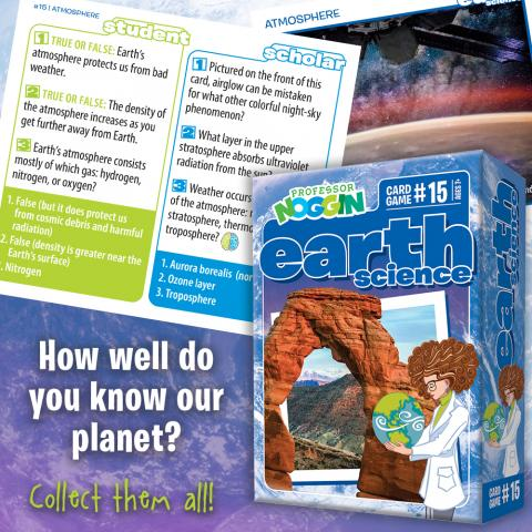 Profossor Noggin Earth Science sample card