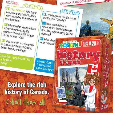 Professor Noggin History of Canada sample card