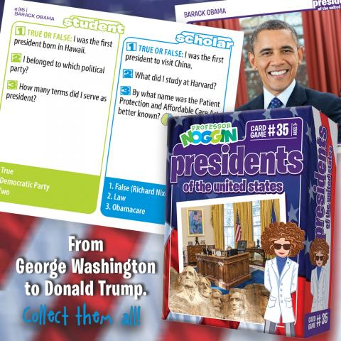 Professor Noggin Presidents of the United States sample card