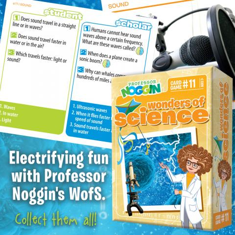 Professor Noggin Wonders of Science sample card