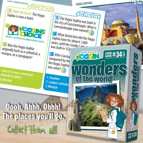 Professor Noggin Wonders of the World sample card